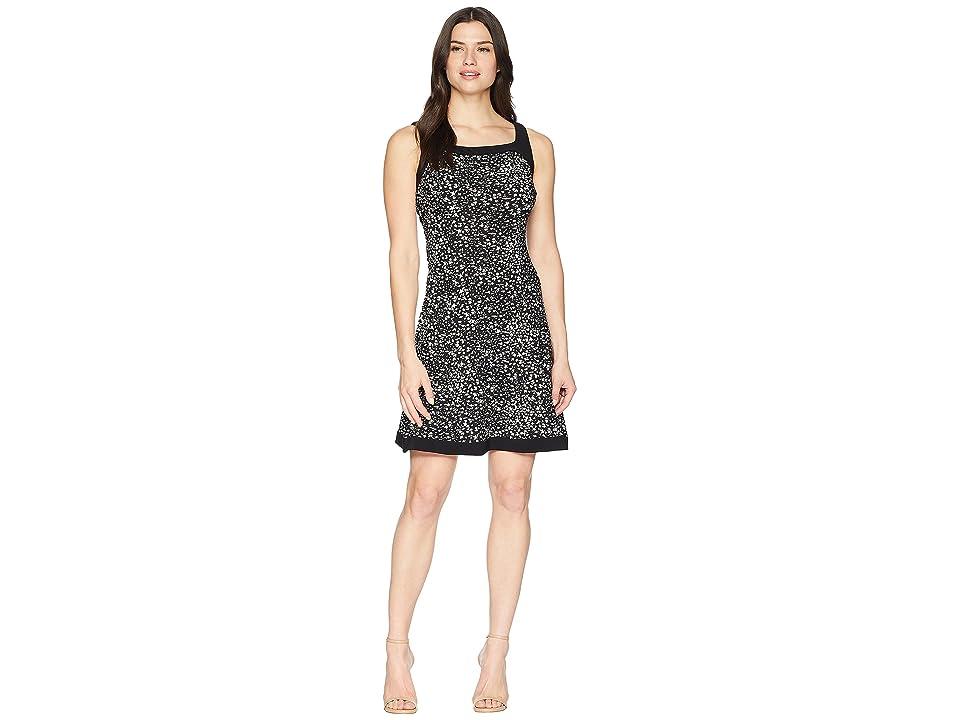 CHAPS Print Jersey Dress (Black/Colonial Cream) Women