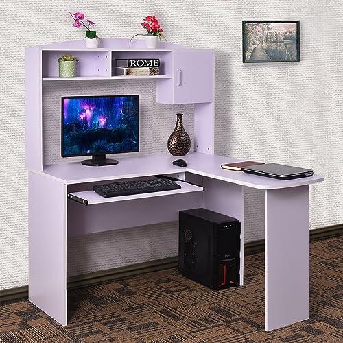 L Shaped Computer Desks with Hutch: Amazon.com