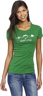 T-Line Junior's Short Irish Yoga Graphic Tee Top