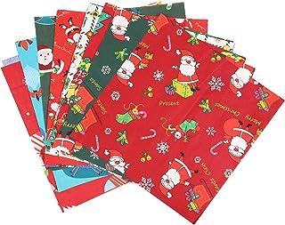 Healifty Conjunto de 20 peças de tecido de algodão de Natal patchwork tecido de artesanato acolchoado de retalhos pré-cort...