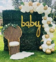 Baby Shower Decorations Neutral, 85 Gold, White and Clear Balloon Arch Garland, 16 ft Arch, Baby Balloons, Gold Baby Shower Decorations, Gender Neutral Baby Shower Decorations, Boho Baby Shower