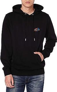 Diesel Black S Girk Hood K22 Sweatshirt (Colour : Size : Large)
