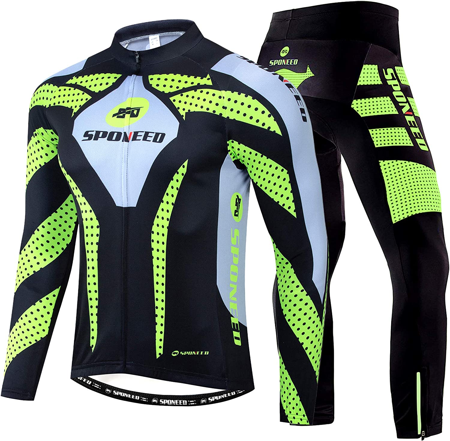 sponeed Max 65% OFF Men's Weekly update Cycling Jersey Full Wear Long Sleeve Riding