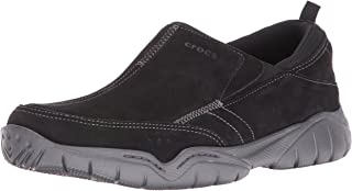 Crocs Mens Swiftwater Leather Moc Shoe