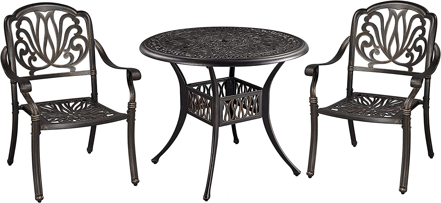 Buy Yaheetech 9 Piece Outdoor Dining Set, All Weather Cast ...