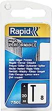 Rapid 40109534 spijkers type 8/20 mm, 750 st. blister, 20 mm