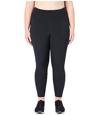 Core 10 Flashflex Plus Size High-Waisted Run 7/8 Crop Leggings (Black) Women