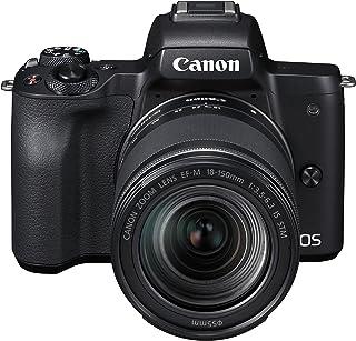 Canon EOS M50 + 18-150 mm MILC 241 MP CMOS 6000 x 4000 Pixeles Negro - Cámara Digital (241 MP 6000 x 4000 Pixeles CMOS 4K Ultra HD Pantalla táctil Negro)