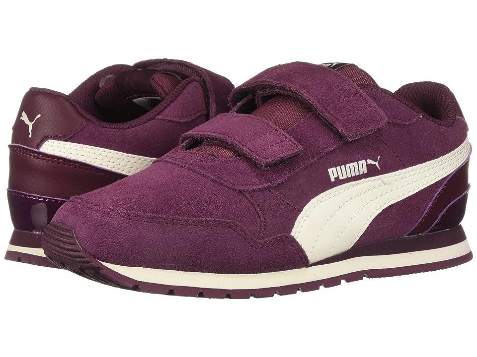 Puma Kids ST Runner v2 SD V (Little Kid) (Fig/Whisper White) Girl