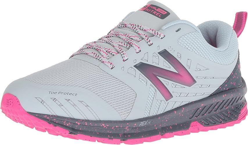 New Balance Wohommes Nitrel V1 FuelCore Trail Running chaussures, Light Porcelain bleu, 12 B US