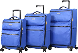 Lucas Ultra Lightweight 3 Piece Softside Expandable Luggage With Spinner Wheels (One Size, Royal Blue)