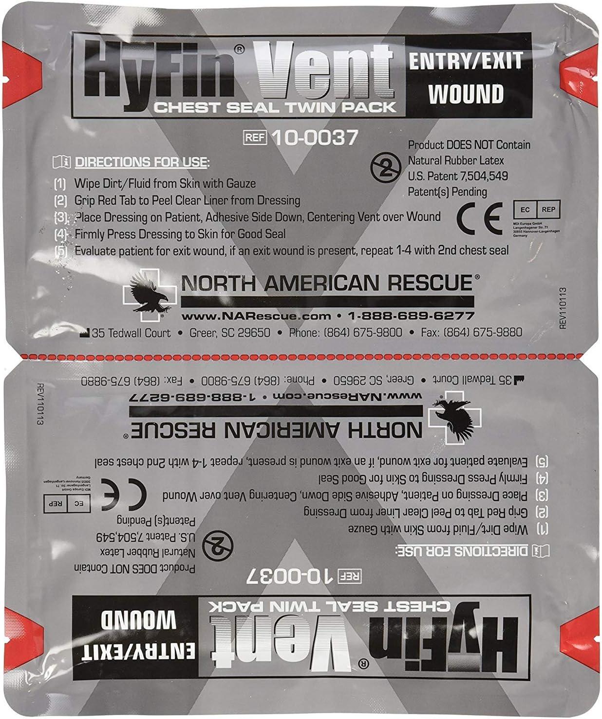 North American Rescue Hyfin Vent Count Chest Seal 2 San Antonio Mall gift 5