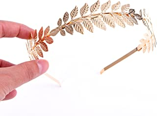 Greek Goddess Headband Costumes/Gold Leaf Branch Hair Band Crown/Bridal Wedding Headpiece