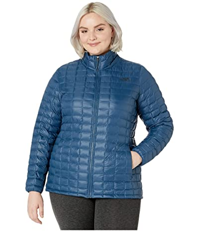 The North Face Plus Size Thermoball Eco Jacket (Blue Wing Teal Matte) Women