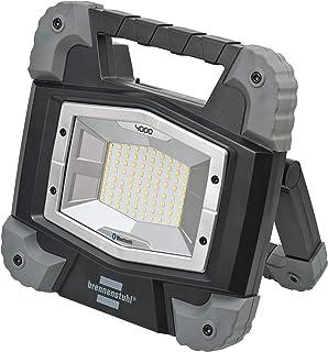 Brennenstuhl Foco LED móvil Bluetooth TORAN con batería 4000 MBA controlar la iluminación, IP55, 3800lm, 40W, Negro, Gris