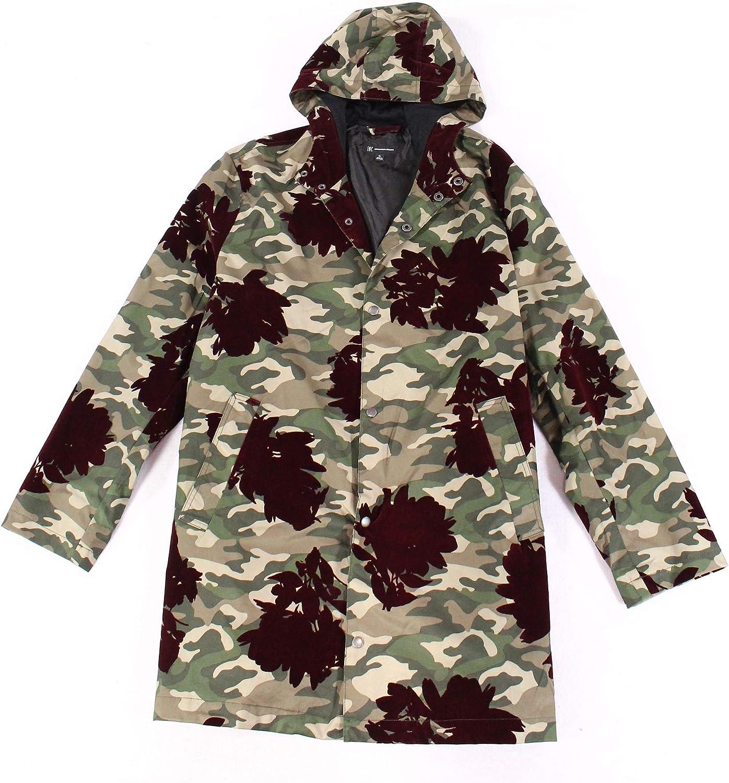 I-N-C Mens Flocked Parka Coat