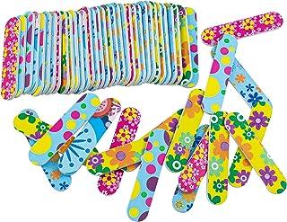 أدوات ألواح أظافر صغيرة الحجم للاستعمال مرة واحدة من أوير (ألوان متنوعة، 100 عبوة، 9 سم 2 سم)