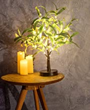 Hypestar Artificial Decorative Light Tree | Warm White LED Star Batteries USB Operated | Tabletop Decoration Centerpiece |...