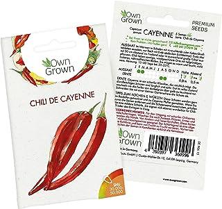 Chilisamen Chili de Cayenne: 5 Premium Cayenne Chili Samen zum Anbau von Chili Pflanzen für Balkon, Kübel und Garten – Cayenne Samen für frische Chilipflanzen – Chili Samen scharf von OwnGrown