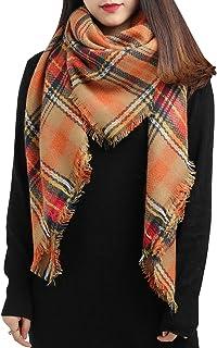 Large Tartan Plaid Cashmere Feel Soft Cozy Warm Lightweight Blanket Scarf Wrap Shawl