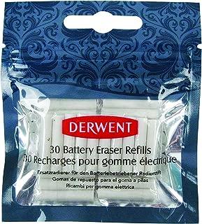 Derwent Replacement Erasers for Derwent Battery Operated Eraser, 30 Count Refills (2300023)