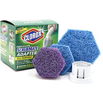 Clorox ScrubMate Adapter Kit and ScrubMate XL Bath and Tile Refill Combo Pack, 7, Disposable Pads