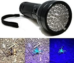 51 LED UV Scorpion Detector Hunter Finder Ultra Violet Blacklight Black Light Flashlight AA