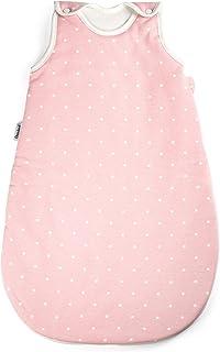 Ehrenkind Ehrenkind Babyschlafsack Rund | Bio-Baumwolle | Ganzjahres Schlafsack Baby Gr. 62/68 Farbe Rosa mit weißen Punkten