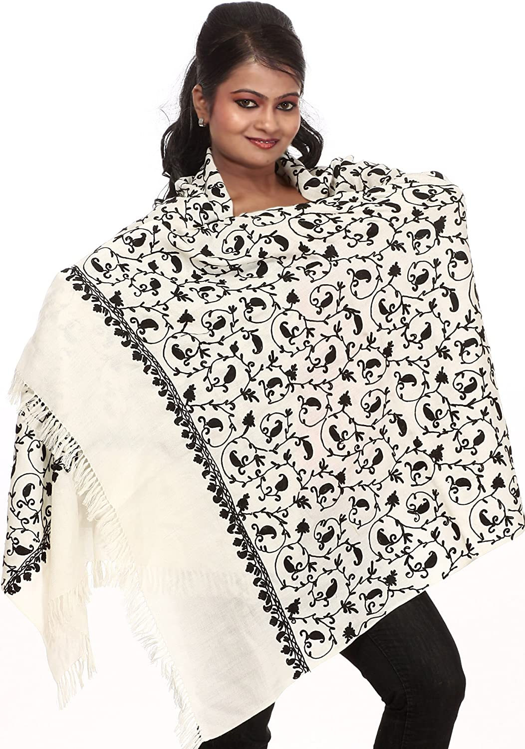 Exotic Under blast sales India Stole from Kashmir Ari Pa Embroidered Ranking integrated 1st place with
