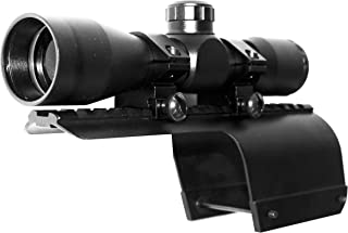 Trinity Replacement Scope 4x32 Sight for 12ga Benelli nova Picatinny Weaver Base Mount Adapter Aluminum Black Tactical Optics Hunting Accessory mildot Reticle Target Range Gear Single Rail.