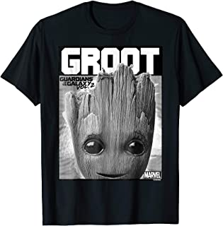 Guardians Vol. 2 Baby Groot Close-Up Graphic T-Shirt