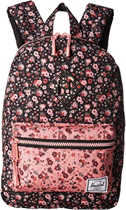 Multi Ditsy Floral Black/Flamingo Pink