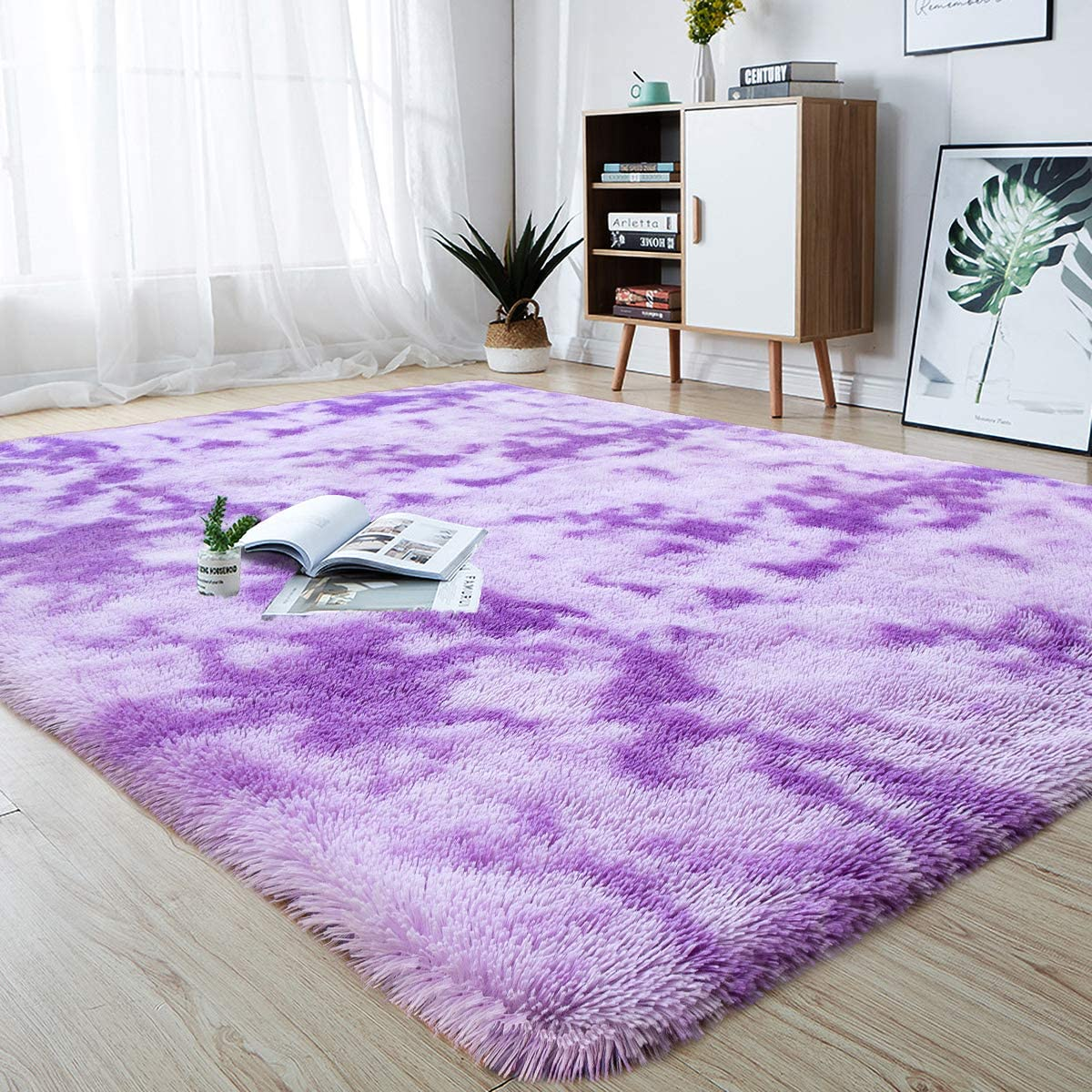 High quality new junovo Modern Abstract Shaggy Area Bedroom Rugs Fluffy Soft Rug New arrival