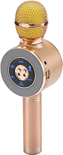 Marlamall Wireless Bluetooth microphone karaoke, suitable for Android/iPhone/iPad/PC Christmas children adult (rose gold)