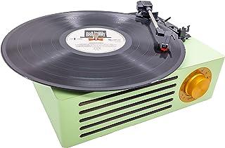 MOETATSU レコードプレーヤー ターンテーブル スピーカー内蔵 レーコド録音 USBメモリー音声データ再生 RCA音声出力端子 33/45/78回転対応 レーコドマット付き 予備レコード針付き (緑色)