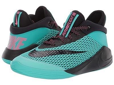 Nike Kids Future Flight (Little Kid/Big Kid) (Black/Black/Hyper Jade/Racer Blue) Boys Shoes