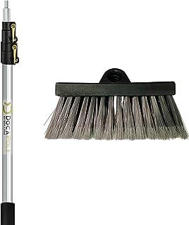 DOCAZOO DocaPole 5-12 Foot Soft Bristle Scrub Brush Extension Pole |Car Wash Brush Extension Pole | Long Handle Scrub Brus...