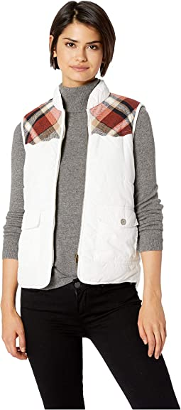 Shanna Vest with Plaid Trim