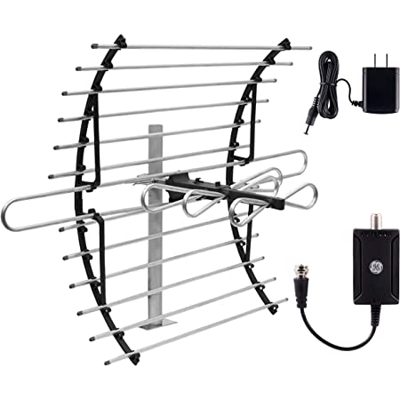 Indoor Full 1080P 4K Ultra HDTV VHF UHF SDV7219N//27 Easy Mount for Top of TV Long Range Included Signal Booster Amplifier Philips Amplified HD TV Antenna