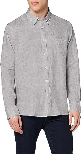 Marca Amazon - find. Regular Linen - Camisa Hombre