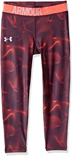 Under Armour Girls Armour Heatgear Printed Ankle Crop Sweatpants