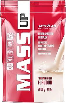 Activlab Mass Gainer - Complejo de proteínas y carbohidratos de suero - Creatina y taurina - Sin aspartamo (Blueberry, 5kg)