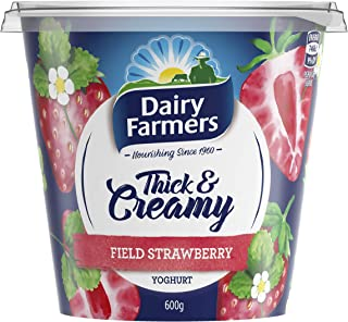 Dairy Farmers Yoghurt, Strawberry, 600g - Chilled