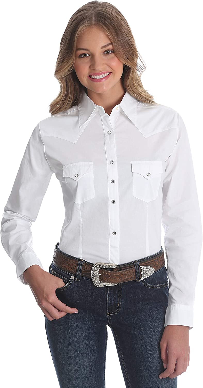 Wrangler Women's Western Yoke Two Pocket Snap Shirt