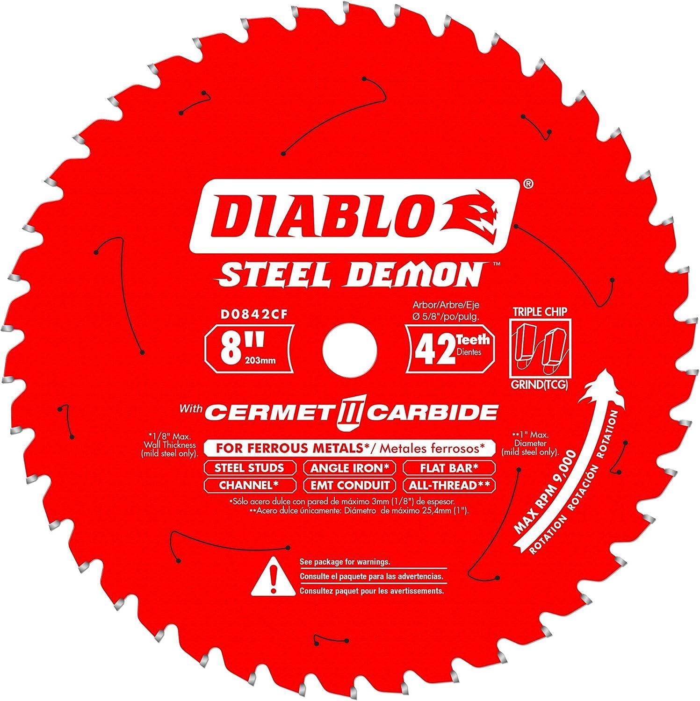 Diablo D0842CF Max 62% OFF 8-inch Steel Demon 42T Carbide High order II Ferrous Cermet
