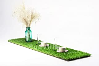SunVilla 1'X6' Artificial Grass Table Runner for Table Decoration Realistic for Garden Wedding Party Many Sizes 1FTX6FT (6 Square FT)
