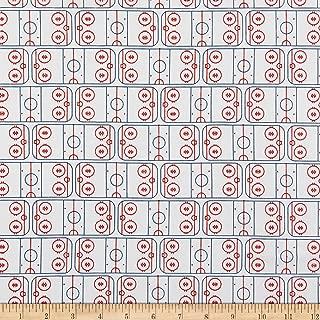 Riley Blake Designs Varsity Hockey Field Fabric, Off White, Fabric By The Yard