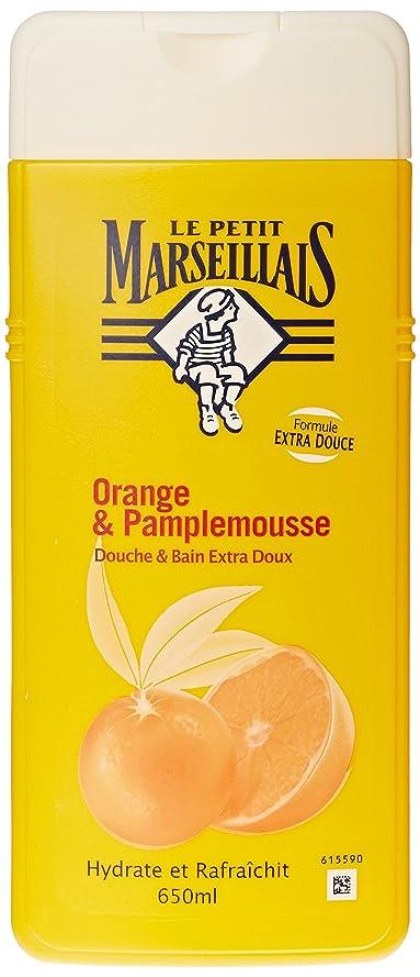 カメ比べる穴「オレンジ??」と「ブンタン」ボディウォッシュ ???? フランスの「ル?プティ?マルセイユ(Le Petit Marseillais)」 650 ml ボディソープ
