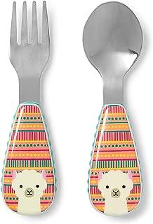 Skip Hop Toddler Utensils, Fork and Spoon Set, Llama