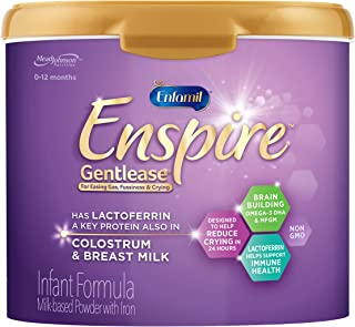 Enfamil Enspire Gentlease Infant Formula with MFGM & Lactoferrin, a Protein found in Colostrum - Powder Tub, 20 oz